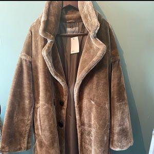 Brand new plush brown ASOS coat